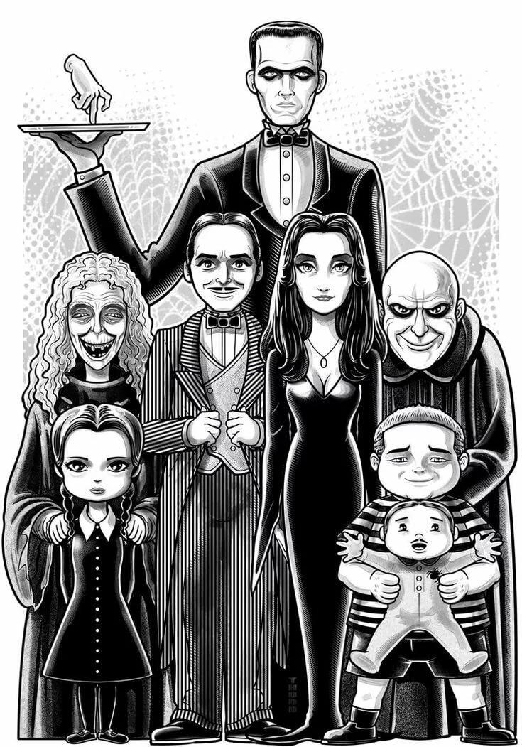 Картинки семейка адамсов