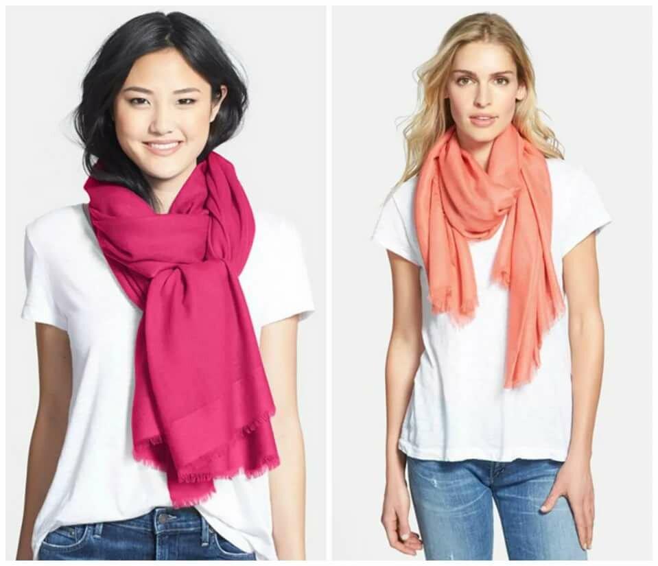 Повязать шарф картинки