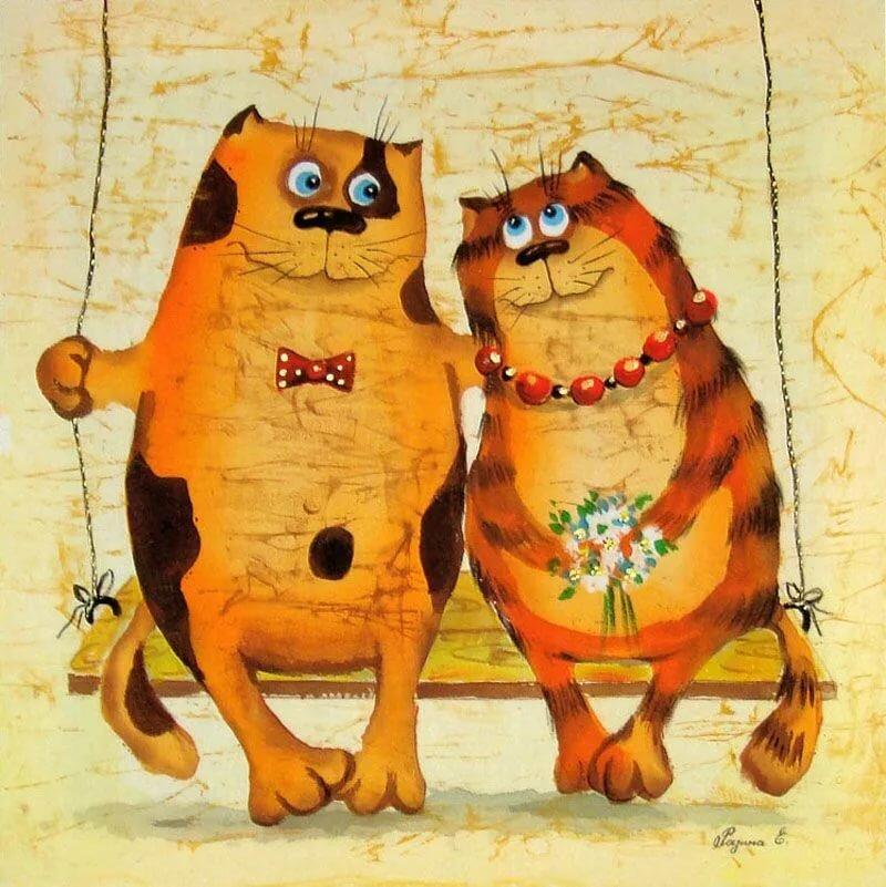 Прикольные кошки рисунки картинки