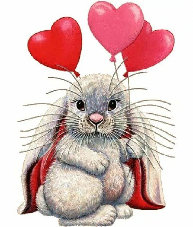 Красивые зверюшки открытки с любовью, марково благодарность открытка