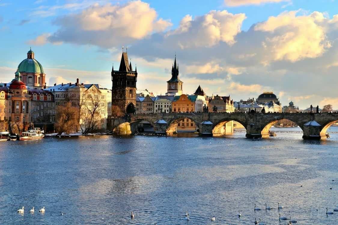 мосты чехии в картинках одной линии расположены