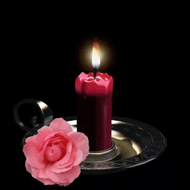 Открытки траурные свечи мерцающие