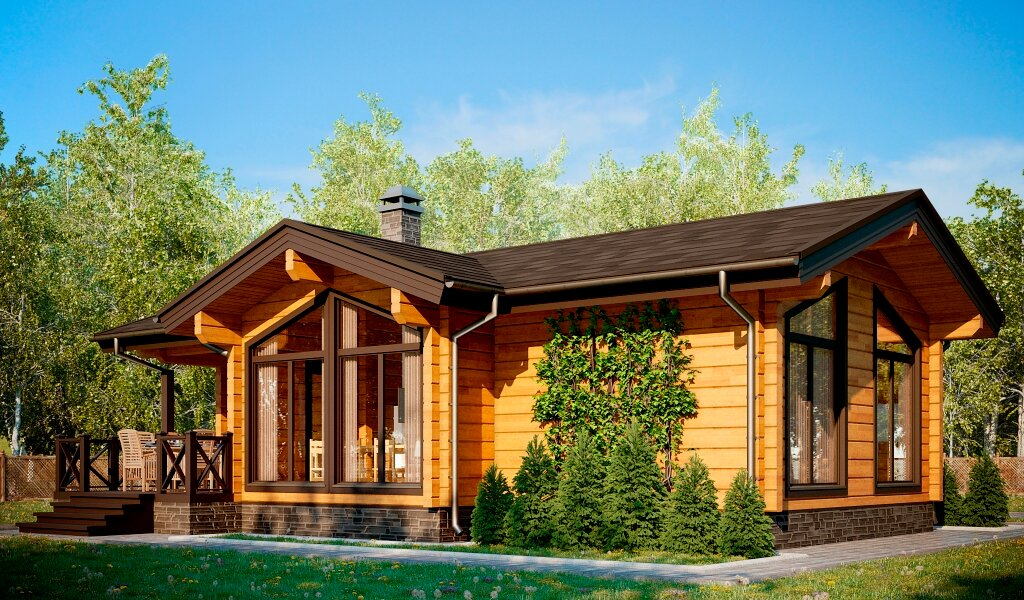 красивые одноэтажные деревянные дома проекты фото вышла недавно