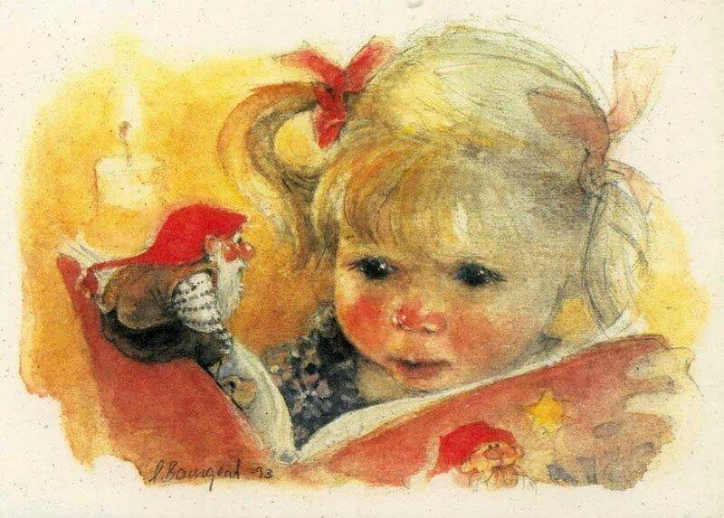 Днем, открытки гномы с детьми