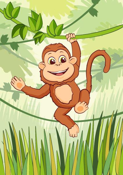 Обезьяна картинки для детей дошкольного возраста