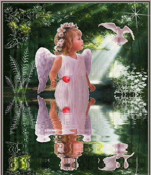 Люблю, картинка ангелы анимашки