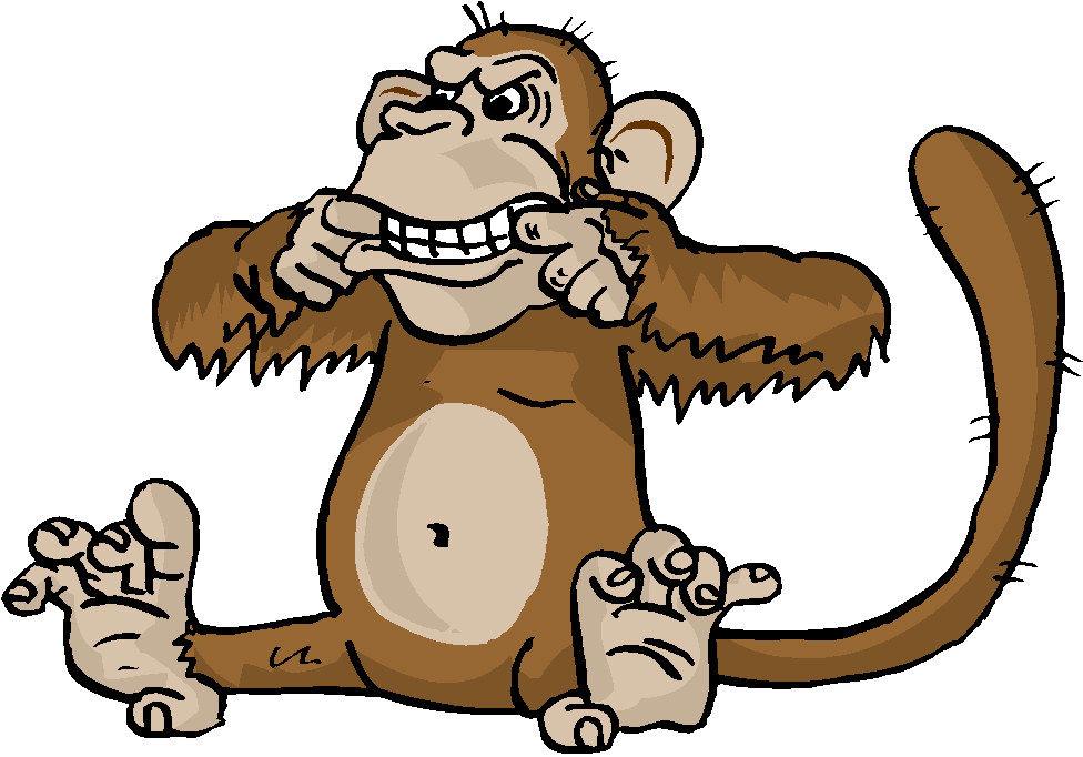 Рисунки обезьяны прикольные