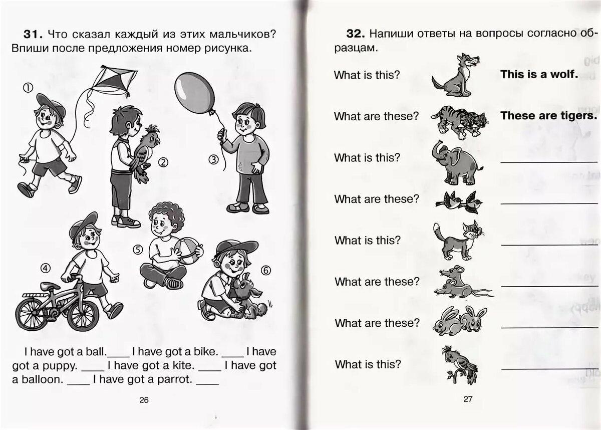 Интересные задания с картинками по английскому