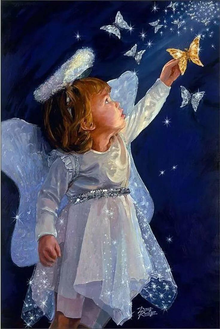 Спокойной ночи картинки с ангелами, ребенок картинки нарисованные