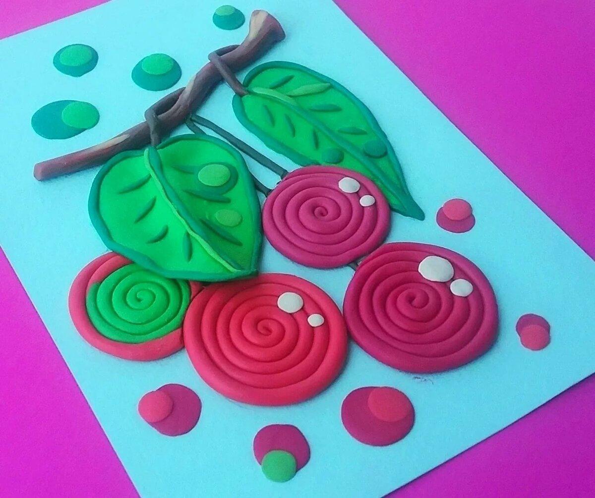 Картинка лепим из пластилина для детей