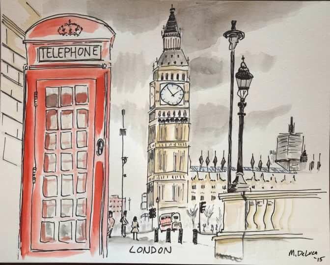 как нарисовать открытку великобритании окна