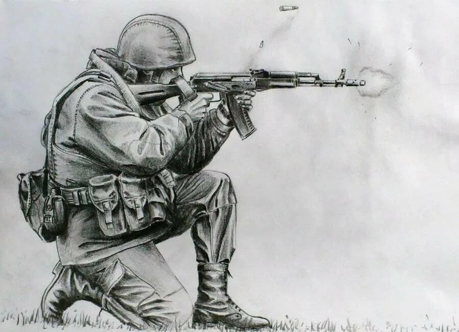 Своими, крутые рисунки солдат