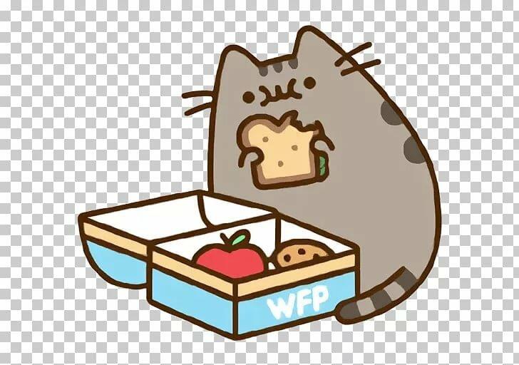 Картинки для срисовки кот пушин с пиццей
