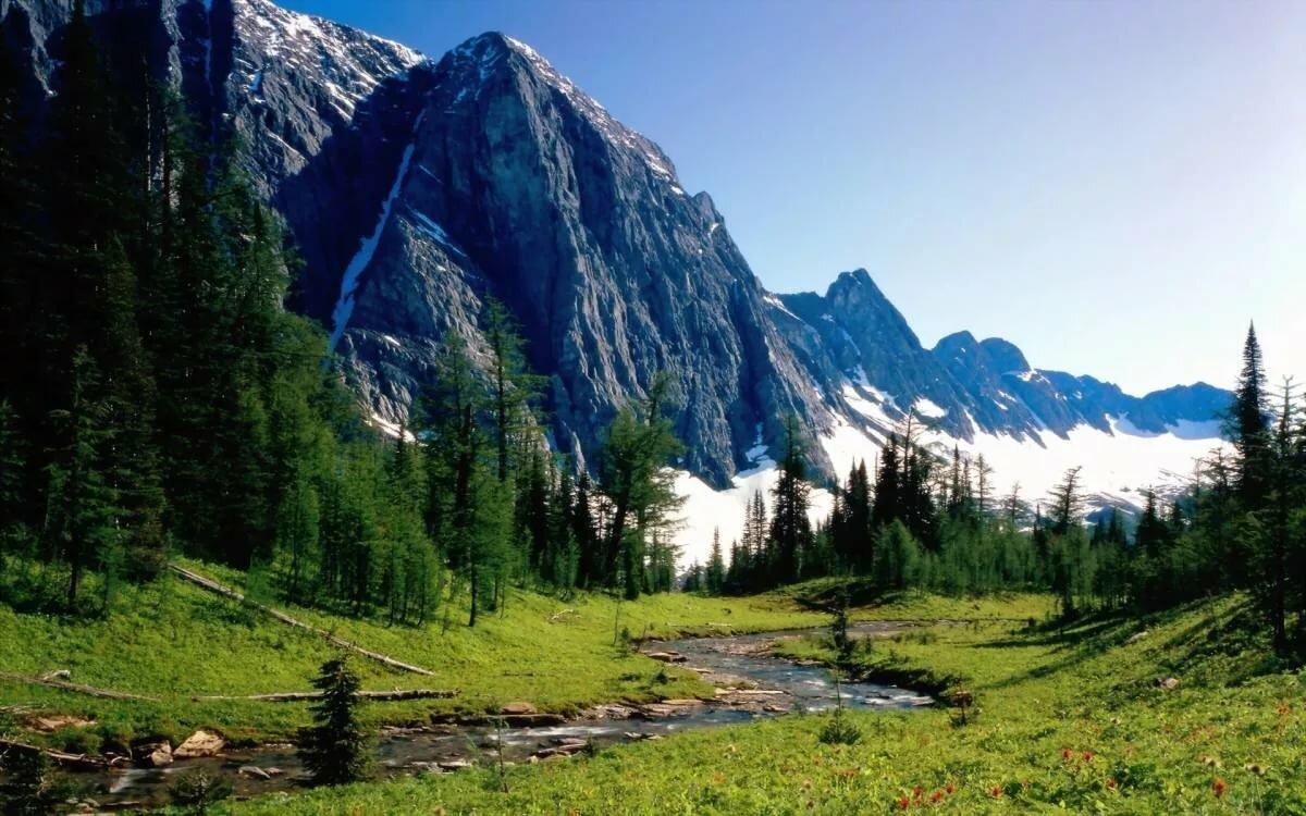 Горный пейзаж фото в высоком качестве