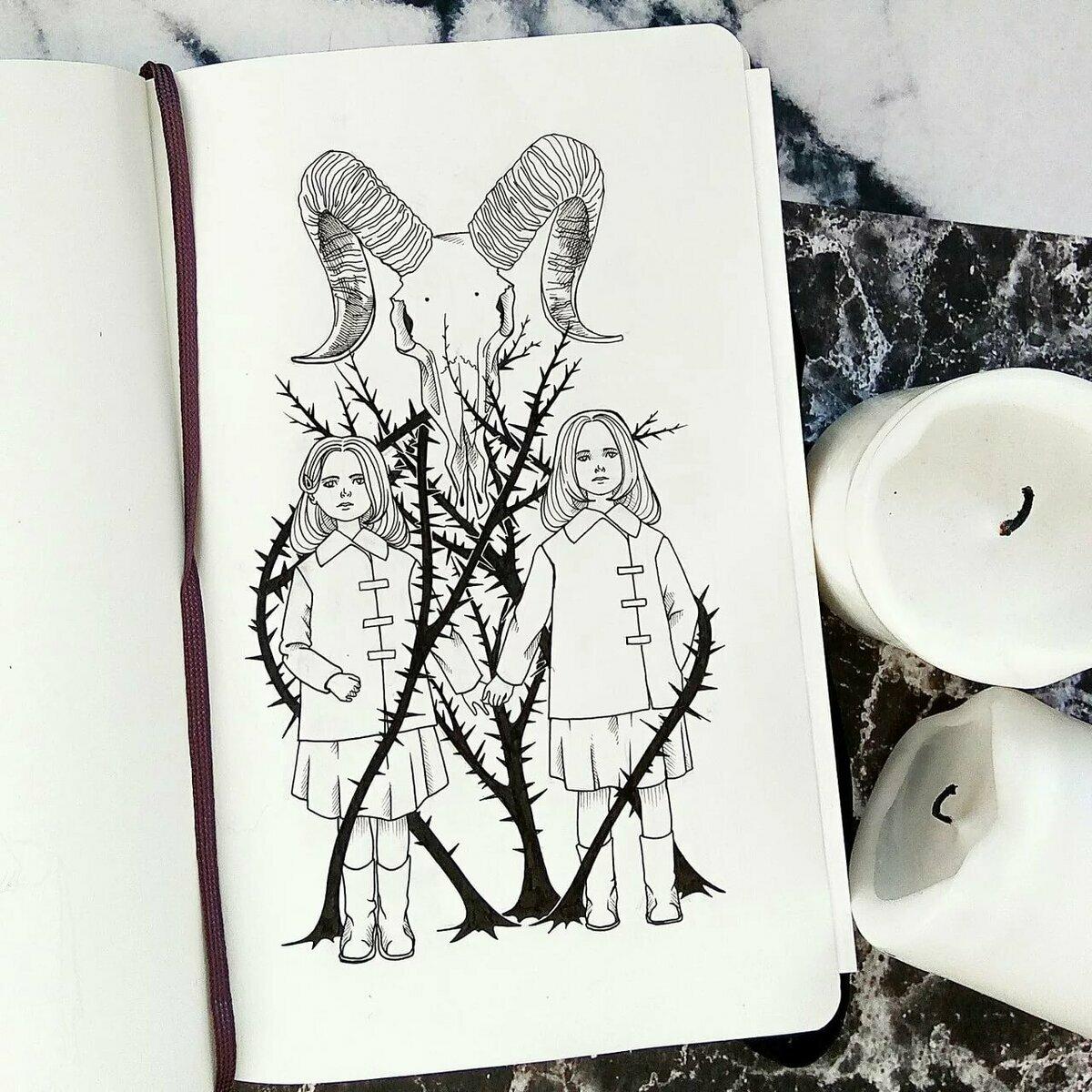 нас крутые картинки черной ручкой на магическую тему драгоценных камней