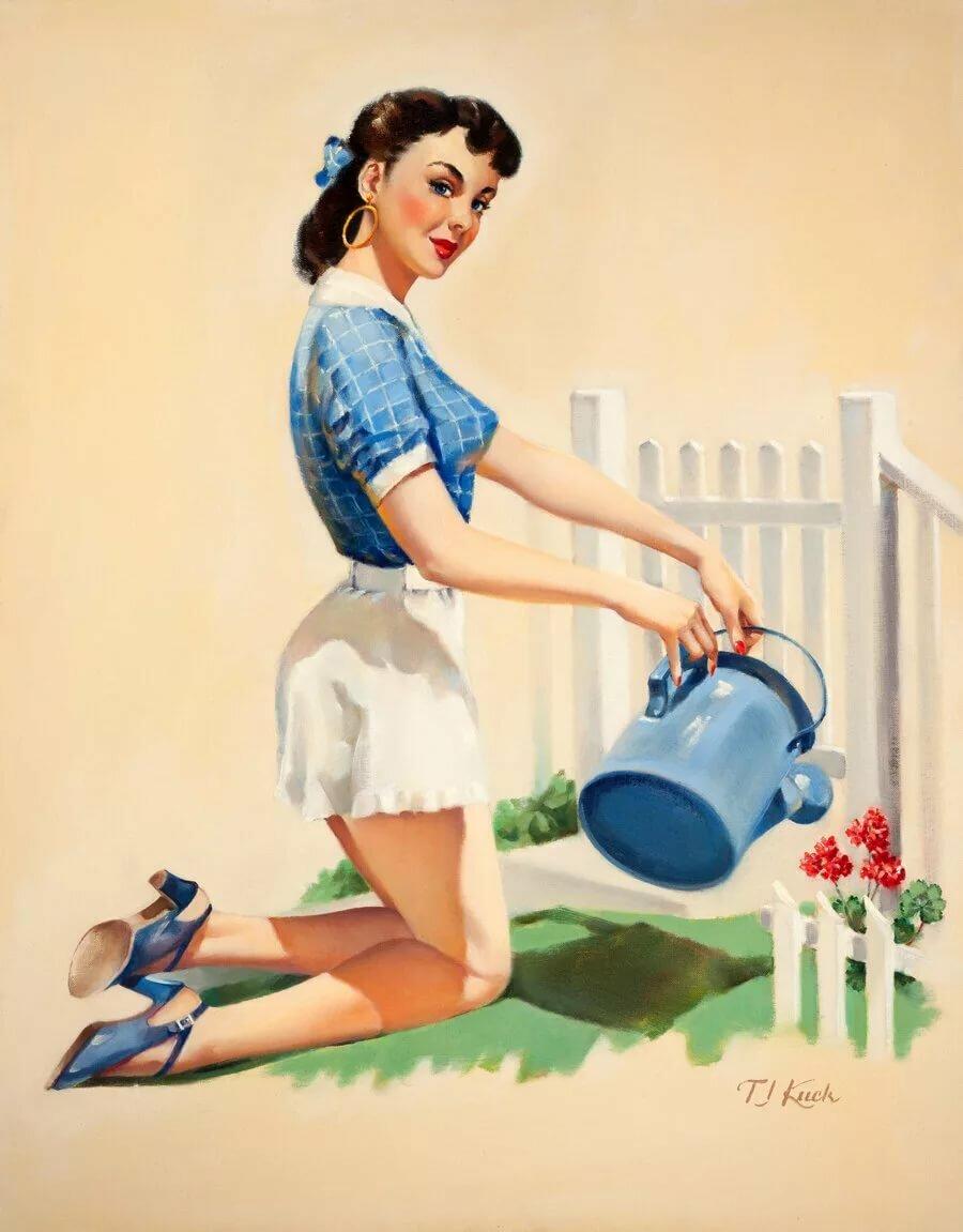 Открытки добрым, открытка домохозяйки