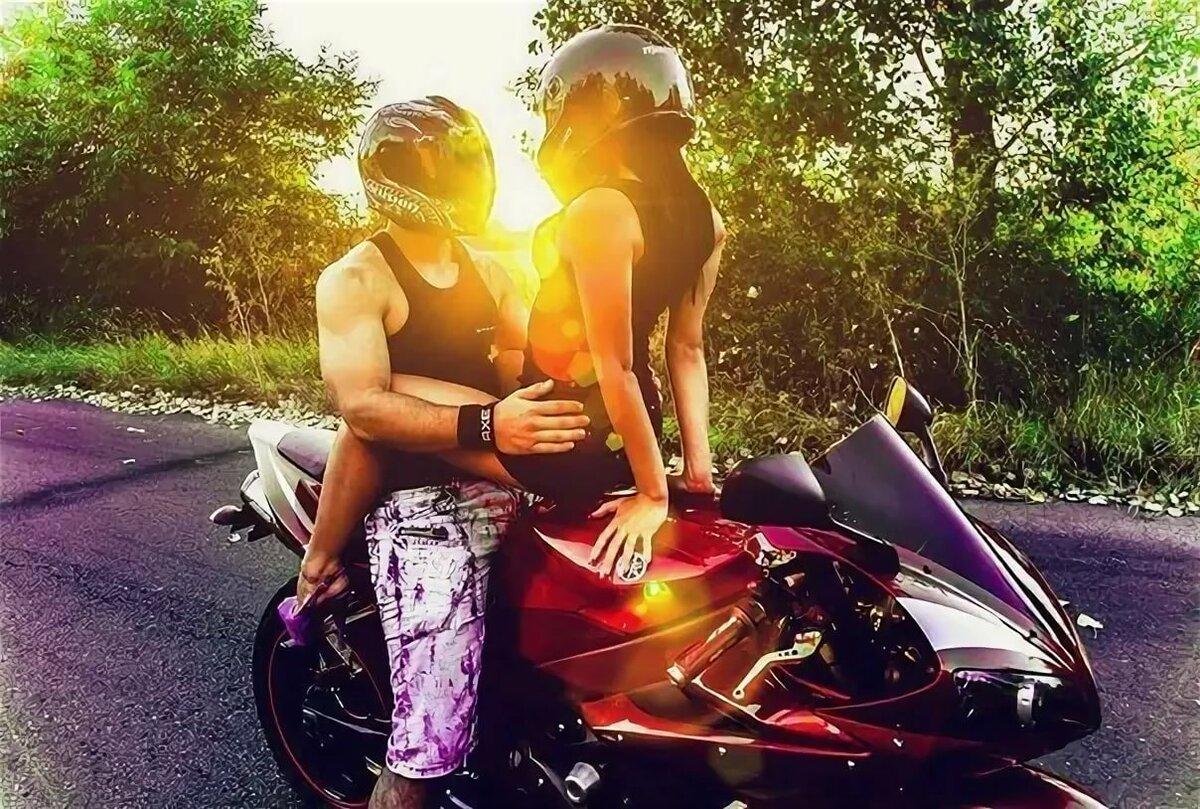 Парни с девушками на мотоциклах картинки