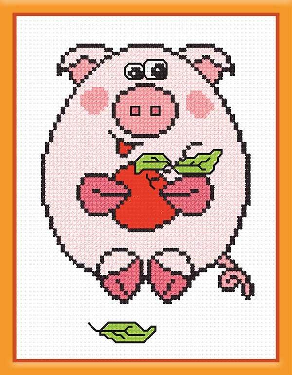 Картинки свиней по схеме