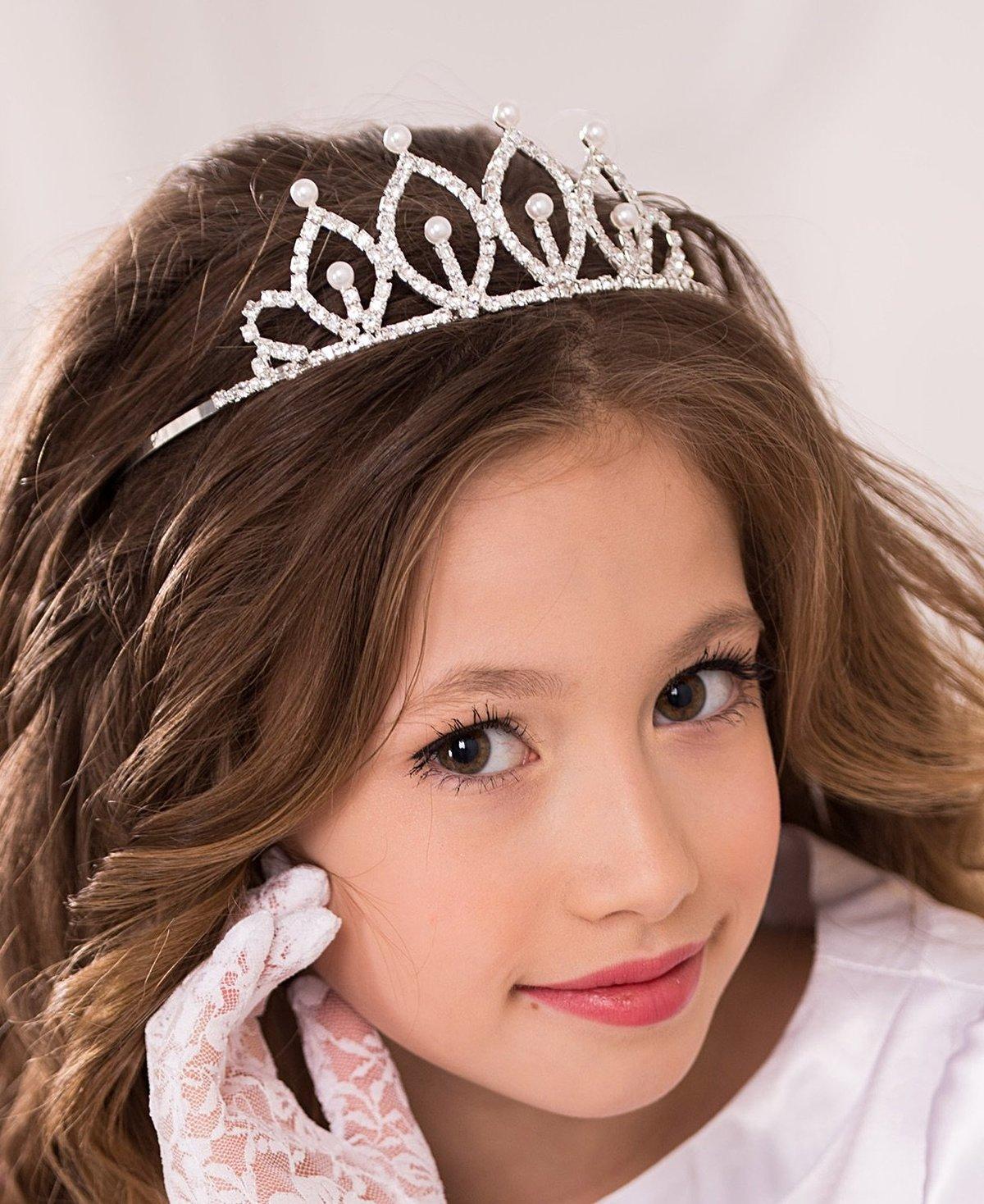 Ободки с короной для девочки железные