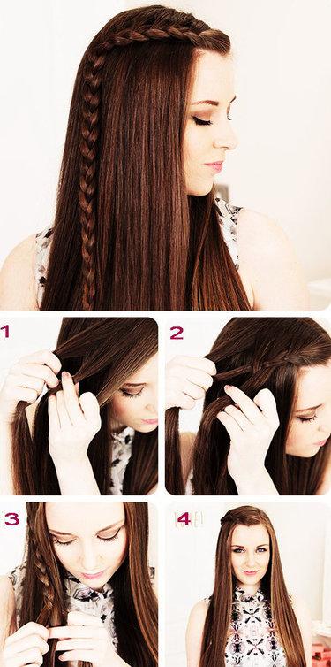 Причёски на длинные волосы пошагово