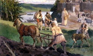 занятия древних славян картинки