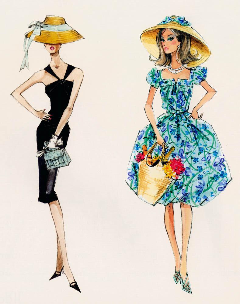 картинки с модой в стиле винтаж нарисовать всего