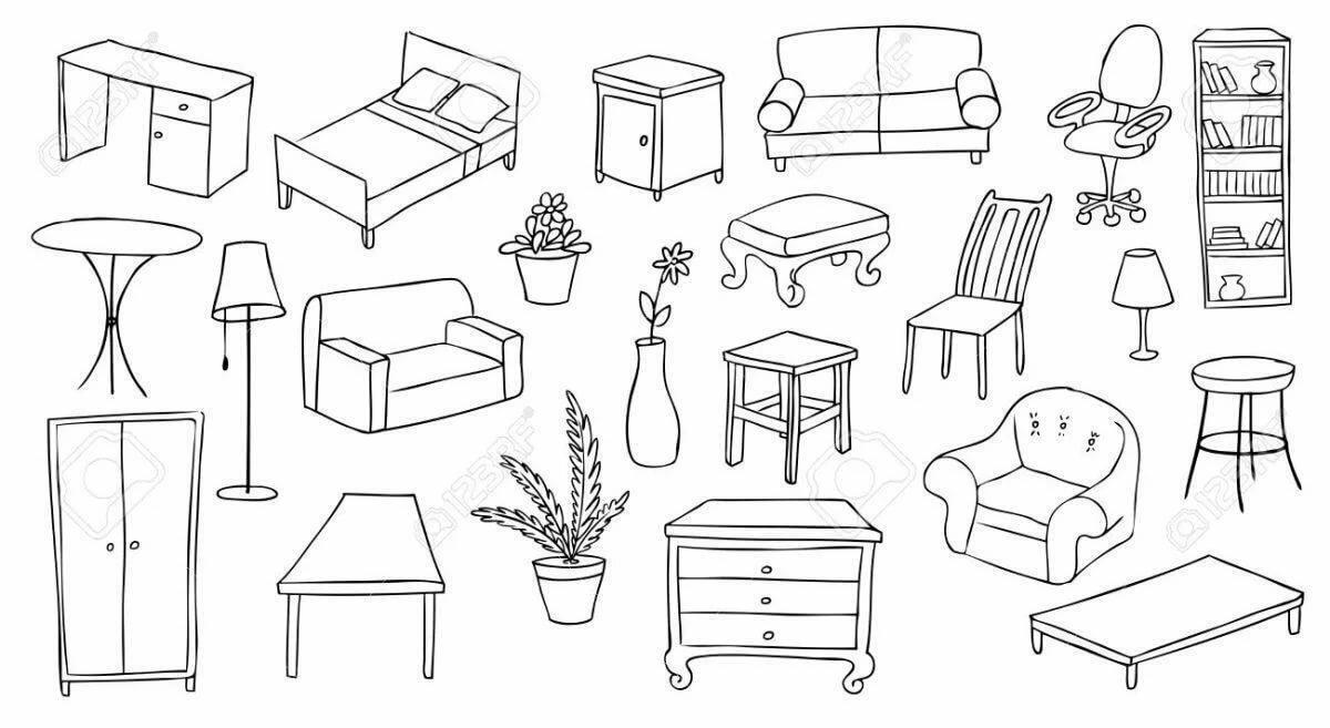 картинки предметы домашнего быта раскраски диван вариантов печи