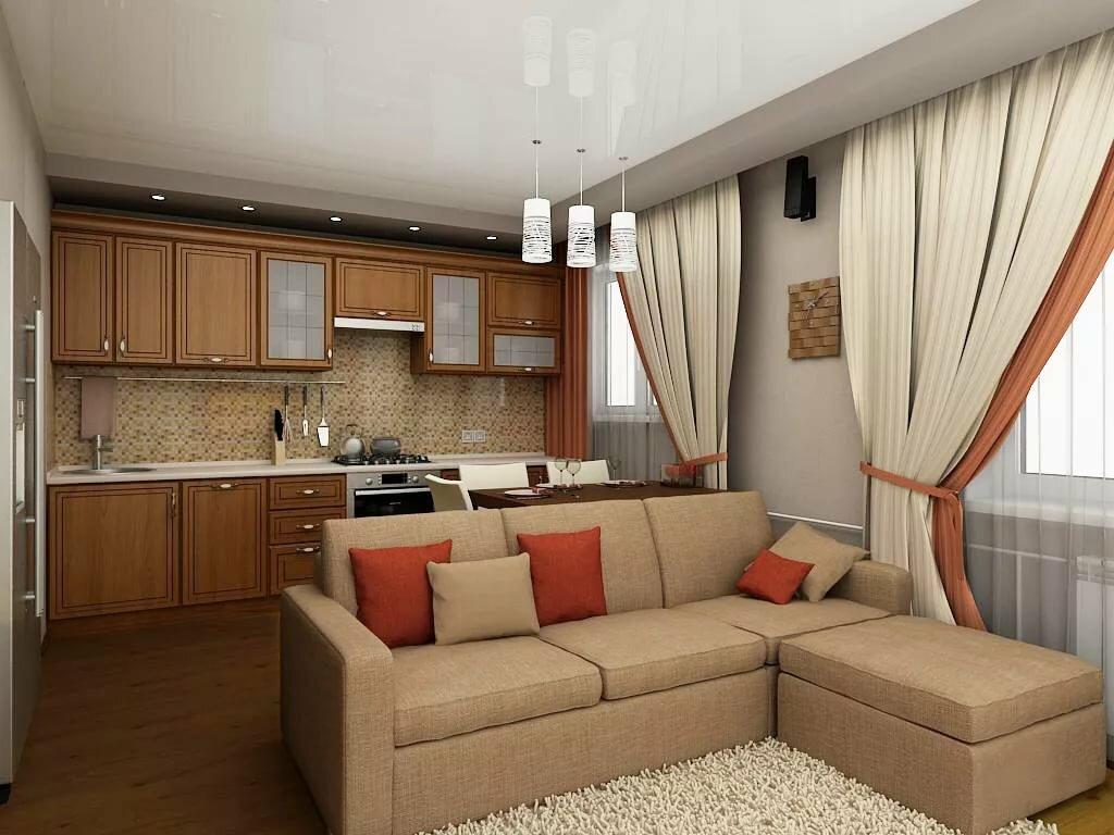 покупать, картинки зал с кухней вместе фото готов