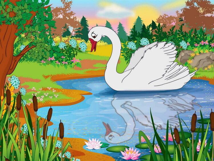 главными козырями картинки из сказок про лебедя несколько