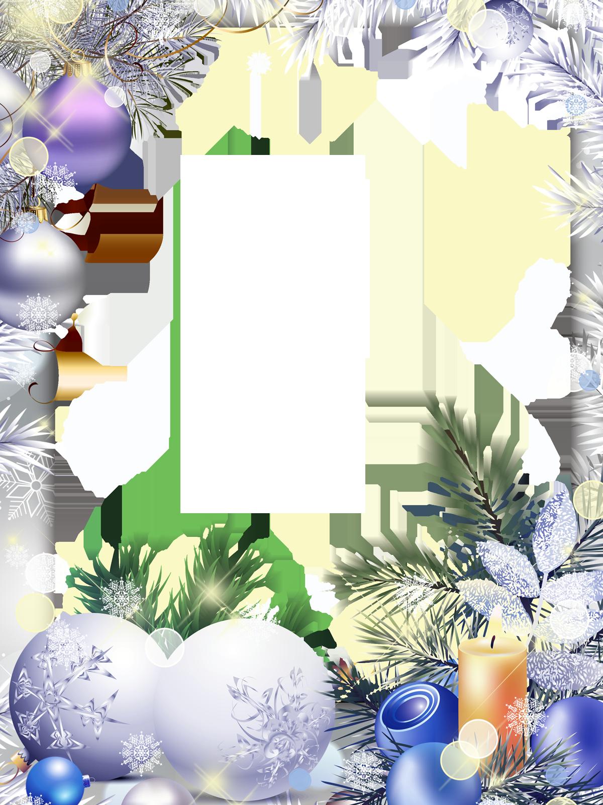 Рамка с поздравлением с новым годом