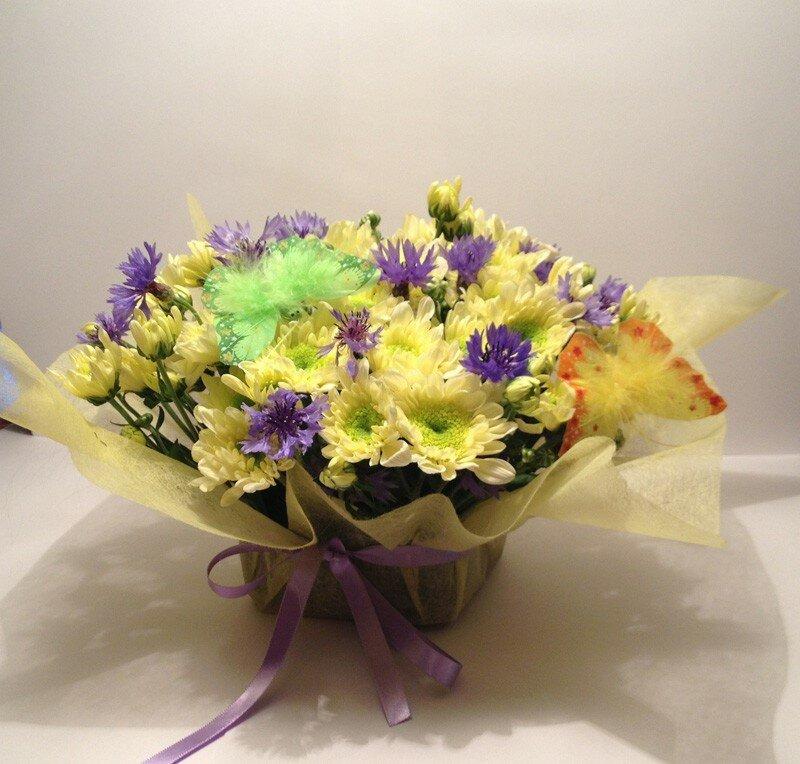 Цветов, как ухаживать за букетом цветов в губке