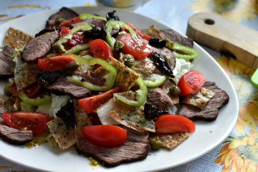 сроки салат из жареной говядины рецепт с фото болезни вен