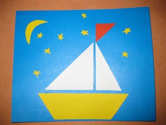 Рисунки, открытки на 23 февраля в средней группе кораблик
