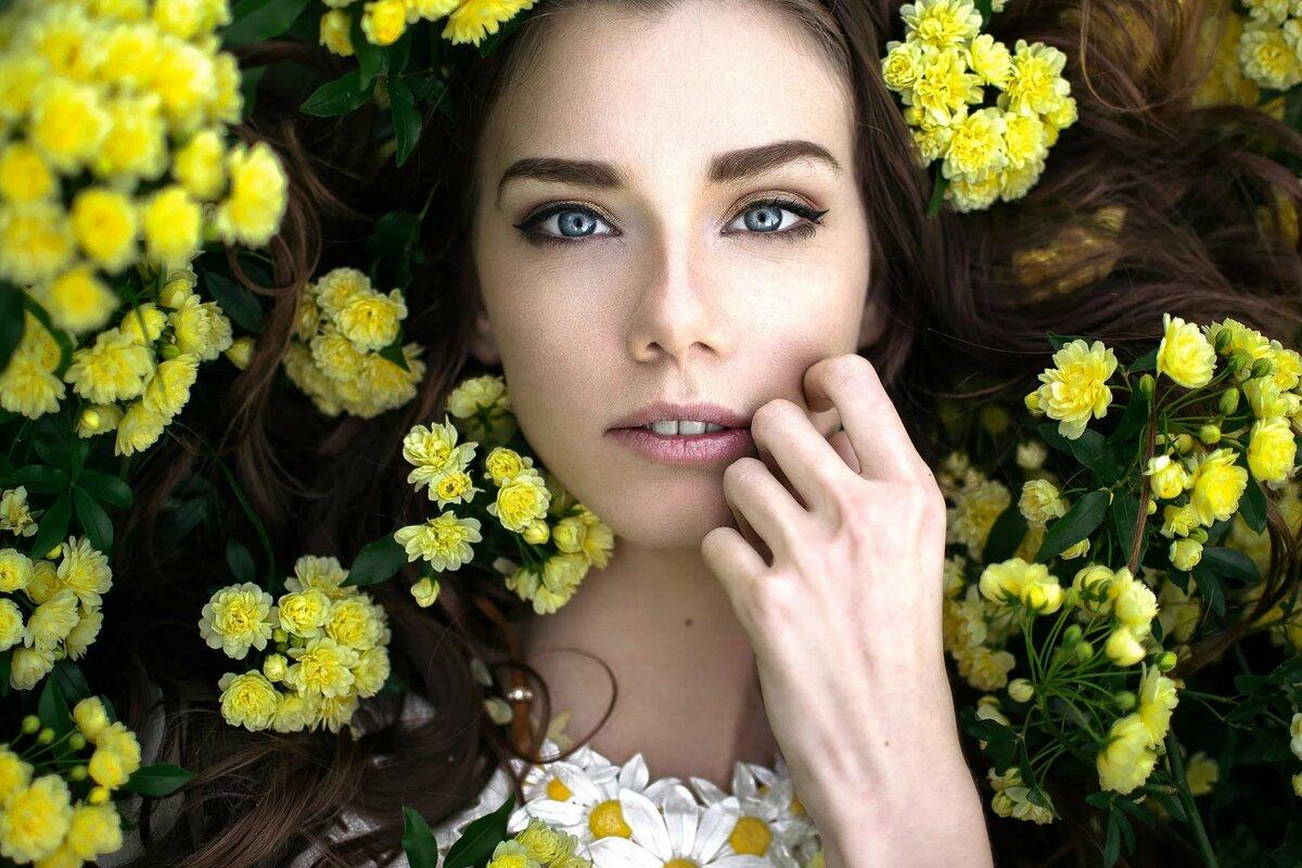 Девушки и цветы фотосессия