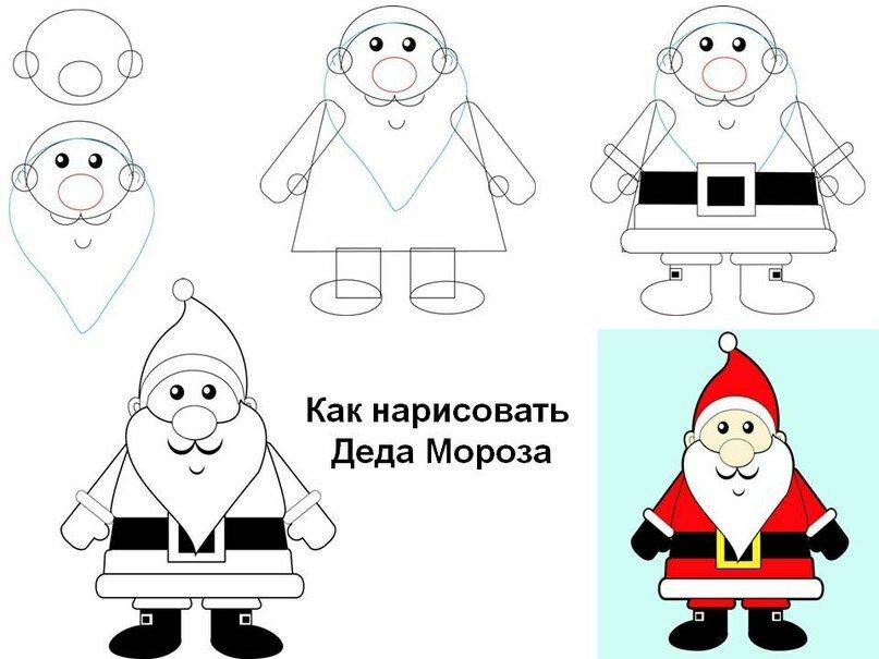 Как нарисовать открытку деду морозу, картинки главный экран