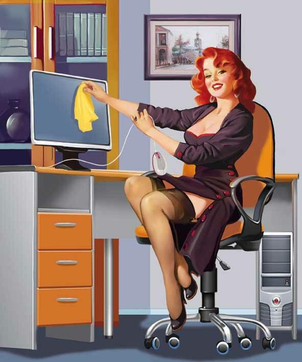 приколы в офисе секретарша мою