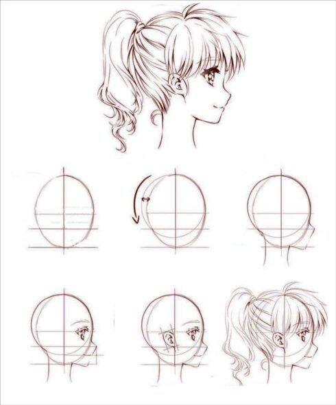 Рисунки карандашом аниме поэтапно