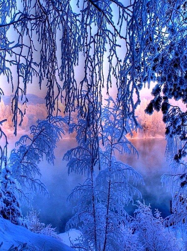 Красивые зимние картинки на экран блокировки телефона
