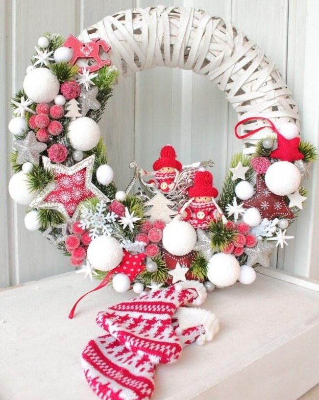 Картинки, картинки рождественский венок своими руками