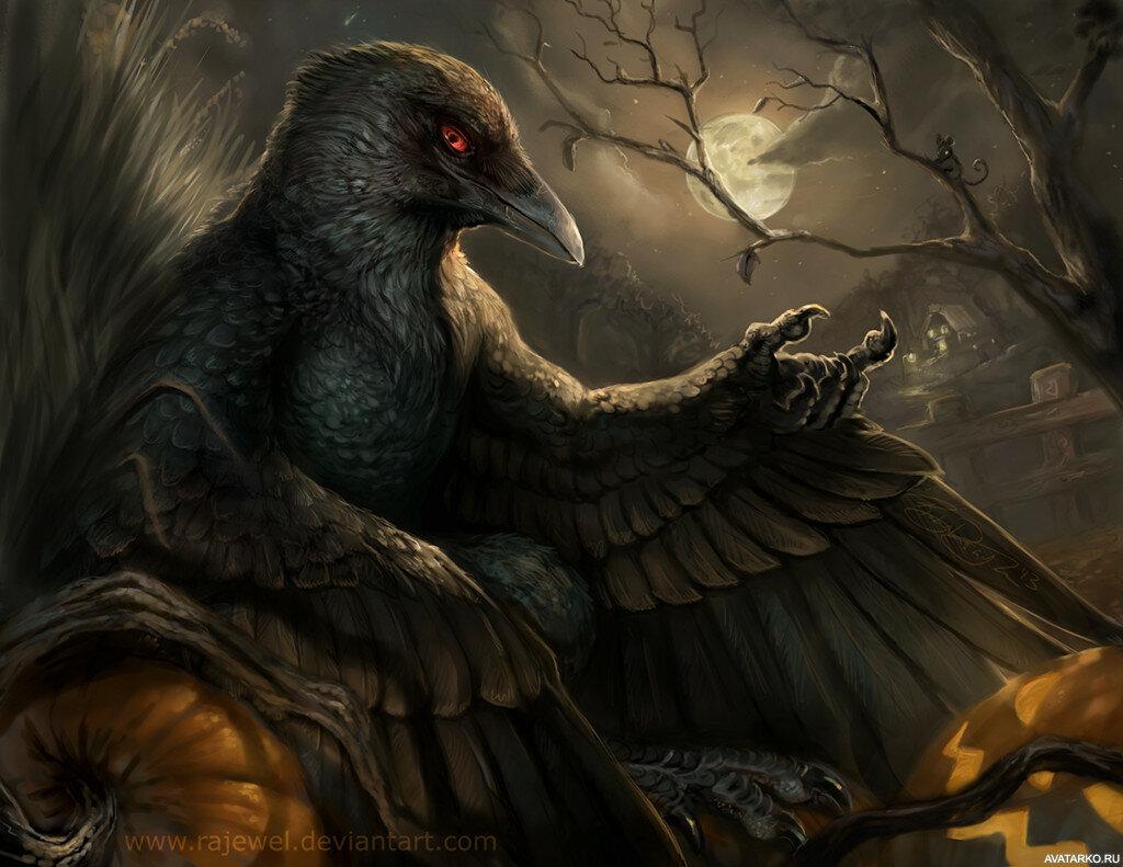 Картинки с воронами арты, великой