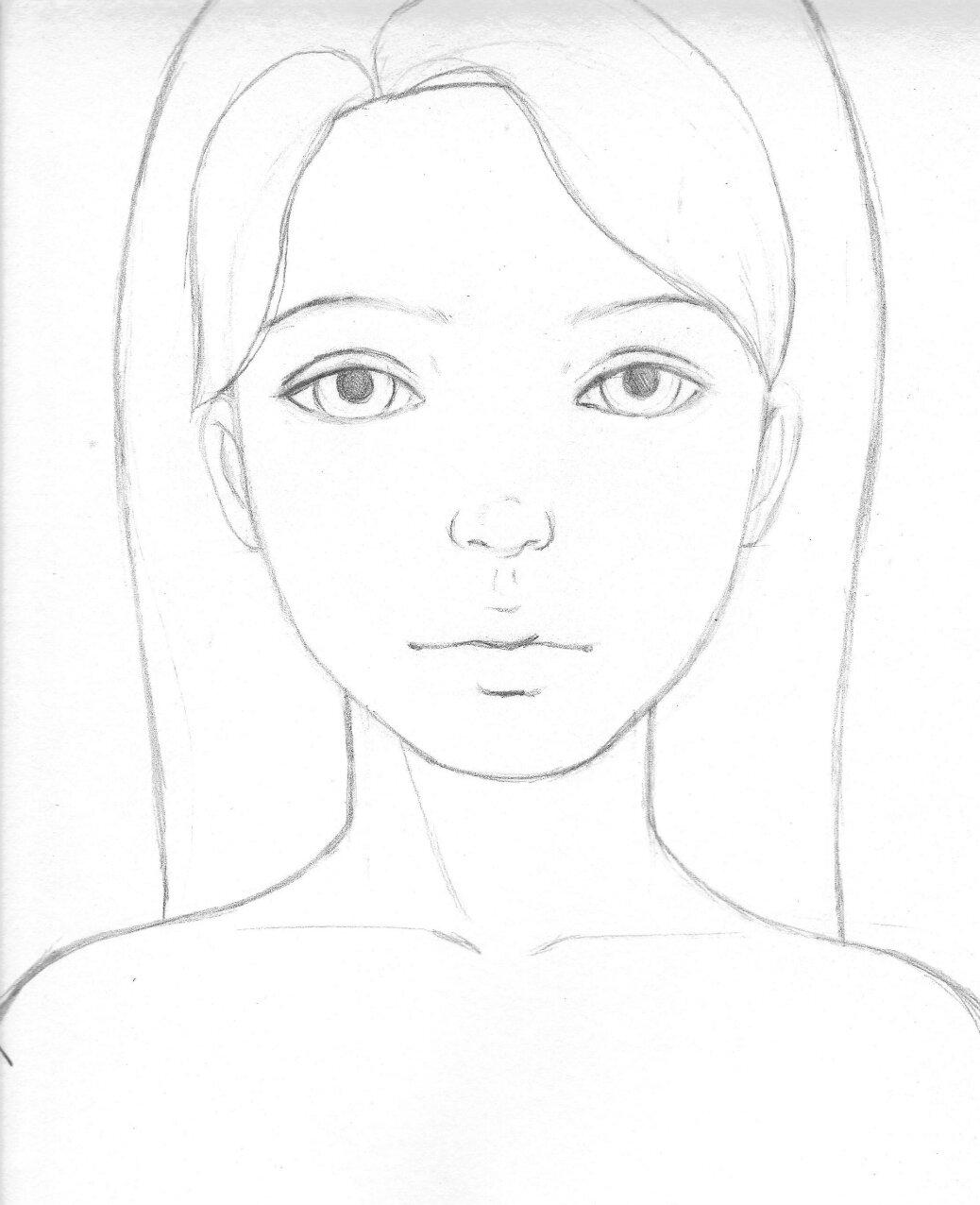 Картинки карандашом для начинающих лицо