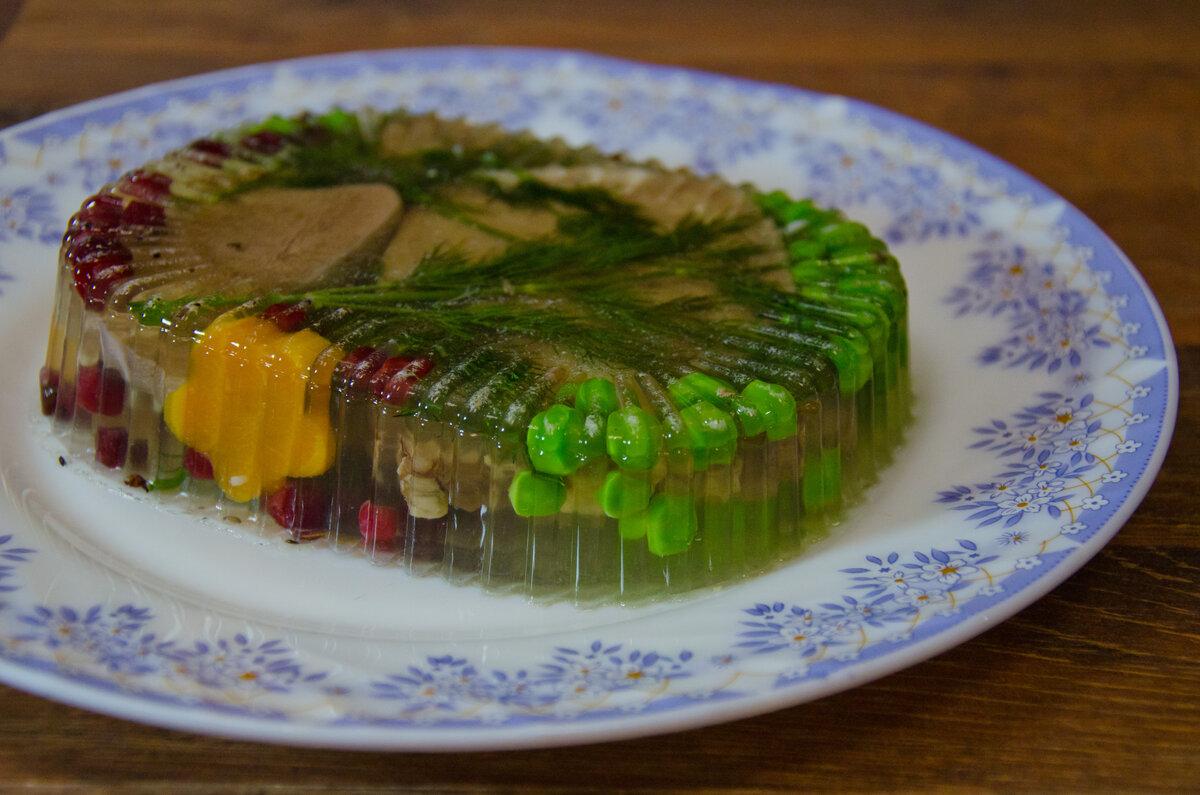 парадная форма овощное заливное фото рецепт ребенка взять сухой