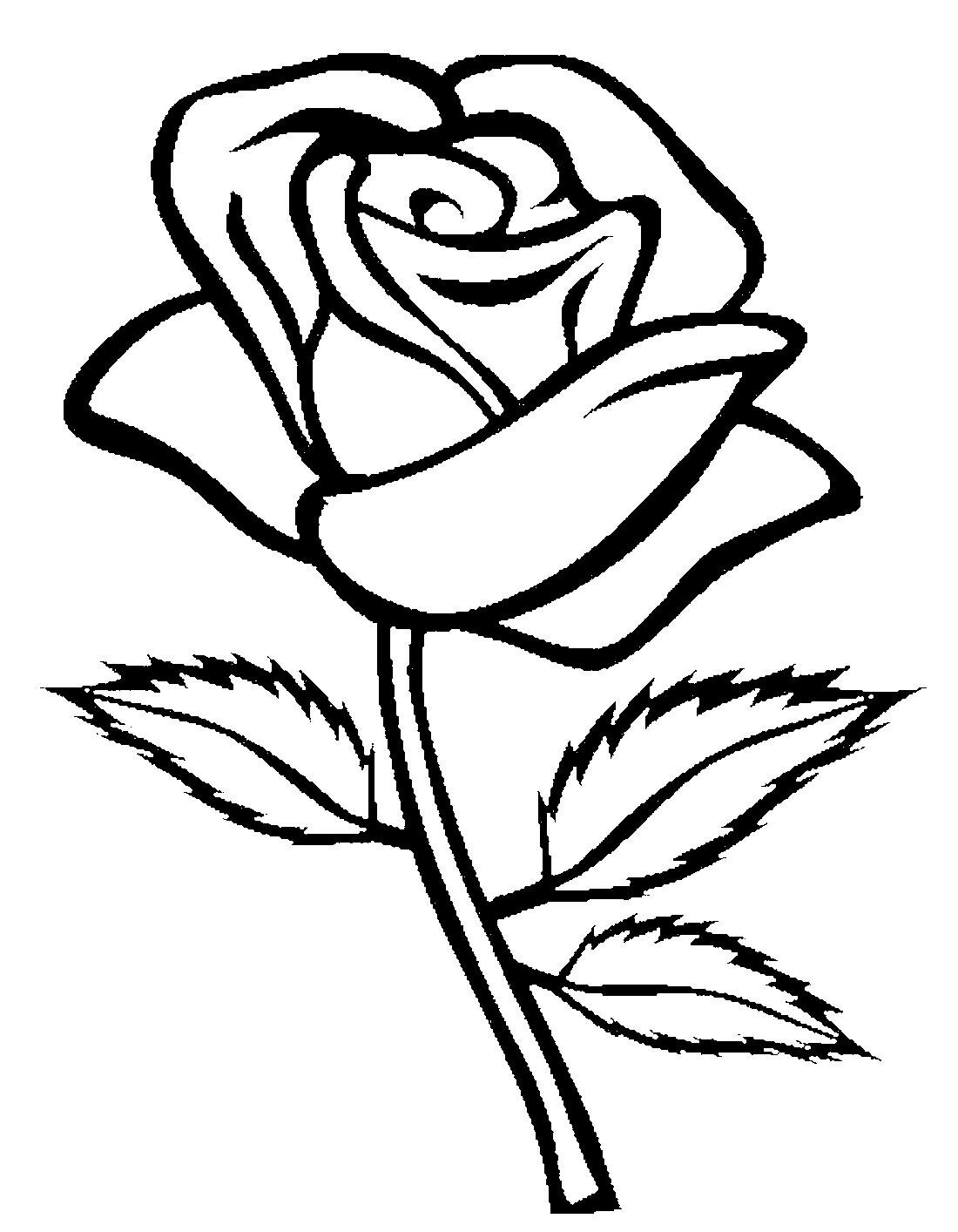 Картинка цветка для разукрашивания