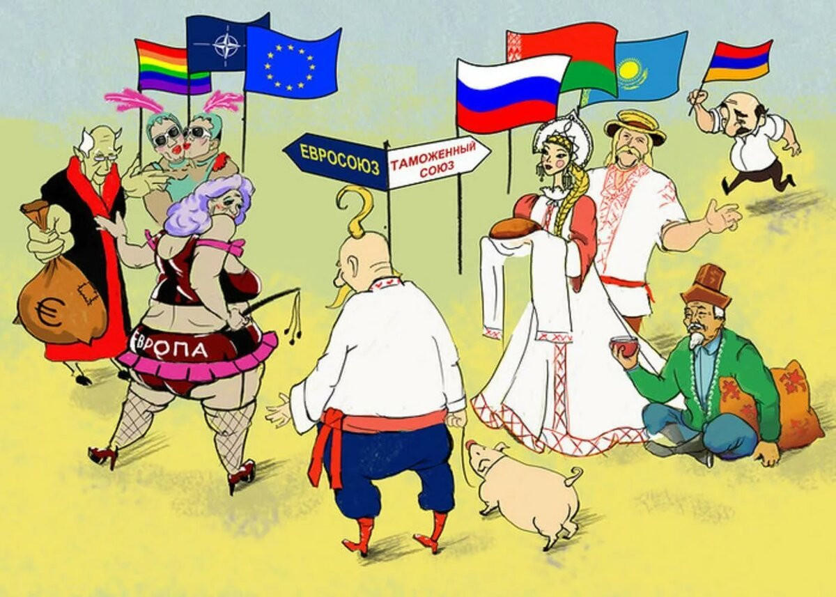 Открытки, картинки с надписью про россию и украину