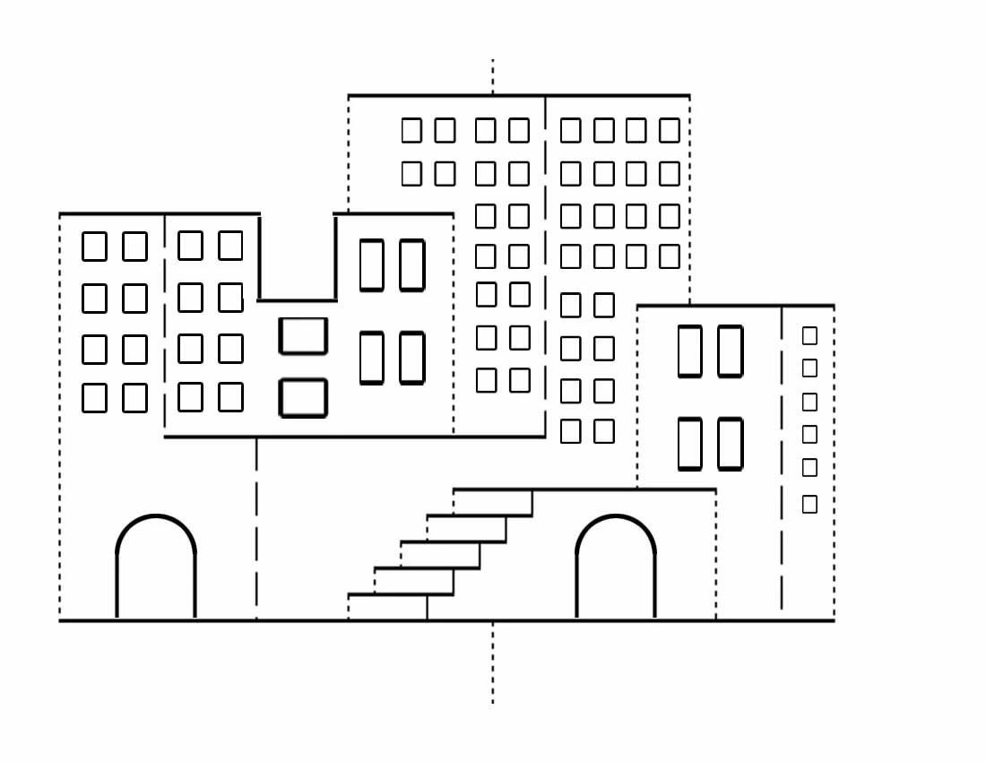 Доброе, открытка объемная дом шаблон