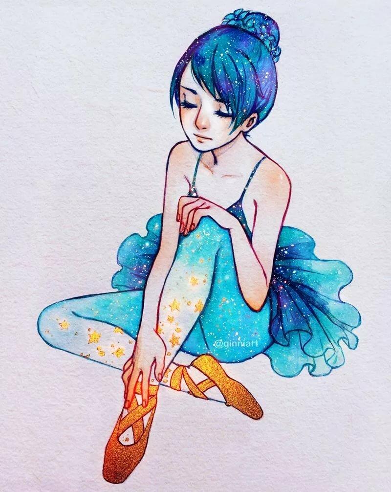 Девочка космос картинки для срисовки