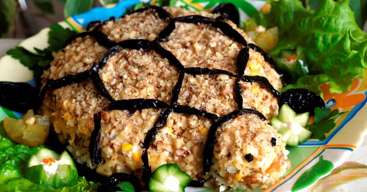 Салат черепаха с картинкой