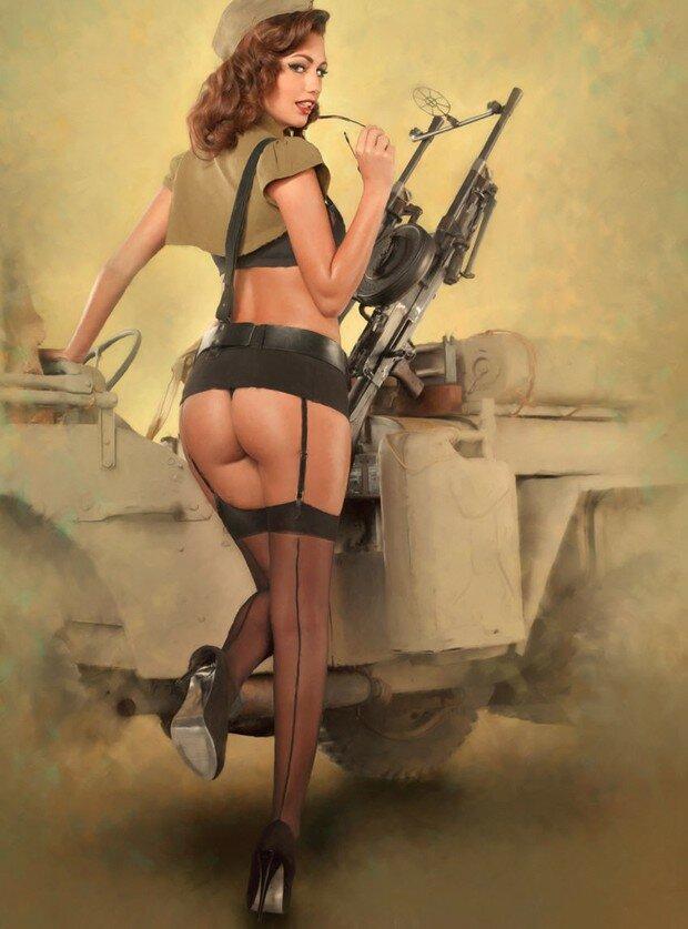 смотреть эротическое фото девушек в военной форме такие