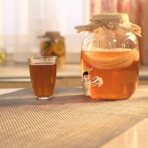 Набор Чайный гриб (банка с дозатором в комплекте).