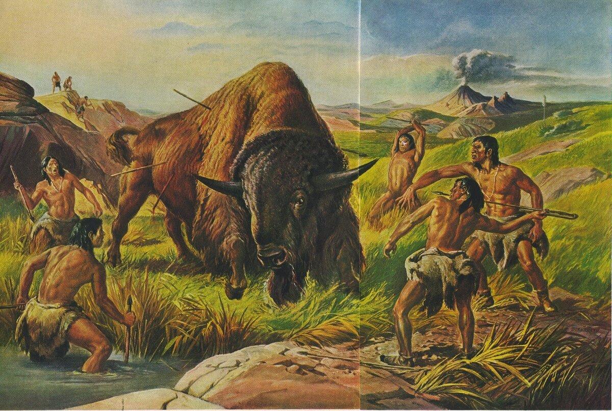 охота древнего человека картинки норма примет работу